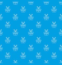 vernier caliper pattern seamless blue vector image
