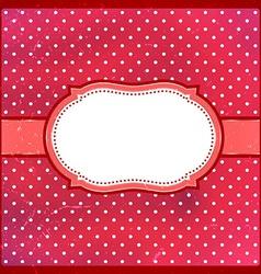 Vintage polka dot frame vector image