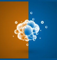 white bubbles in a group vector image