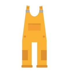 Yellow overall uniform worker protective vector