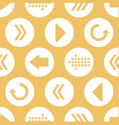 yellow white arrow circles seamless pattern vector image