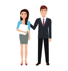 businesspeople characters avatars isolated vector image