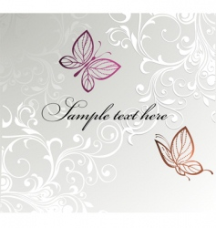 butterfly card design vector image