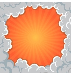 Cartoon Smoke frame Background clouds explosion vector image vector image