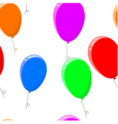 colored air balloons seamless pattern vector image
