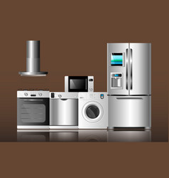kitchen appliances4 vector image vector image