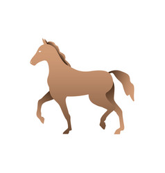 silhouette of a horse horse side view profile vector image