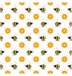 buzzy bee seamless vector image vector image