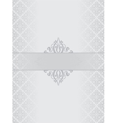 Silver luxury background vector image vector image