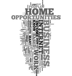 work from home income opportunities text word vector image vector image