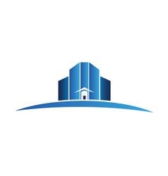 Buildings apartments logo vector image vector image