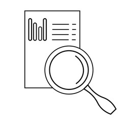 graph analysis icon vector image vector image