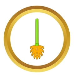 Green toilet brush icon vector
