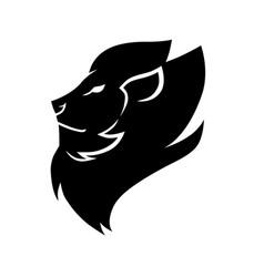 lion head symbol icon vector image