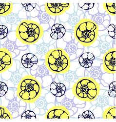 Sea shells seamless pattern marine background vector