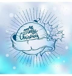 Christmas tree toys vector image
