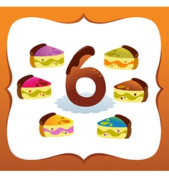 Collection Sweet Numbers for Kids 6 vector image
