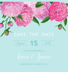 floral wedding invitation or congratulation card vector image vector image