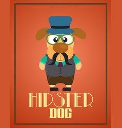funny hipster dog vector image