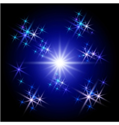 glowing rays and stars vector image