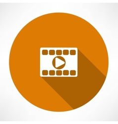Play video icon vector image