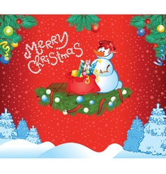 Red Christmas template vector image
