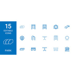 15 park icons vector