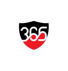365 safeguard logo design template vector