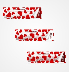 Abstract paper sticker vector