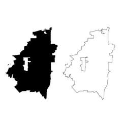 Arlington city map vector
