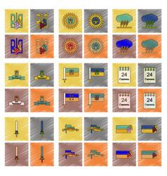 assembly flat shading style icon ukraines vector image