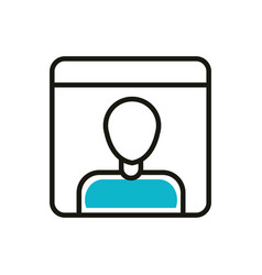 avatar chat social media icon line and fill vector image