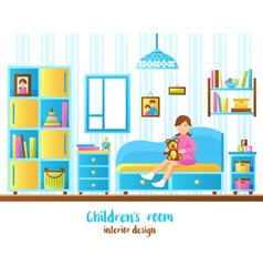 Baby Room Interior vector