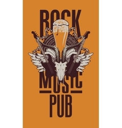 Beer pub with live music vector