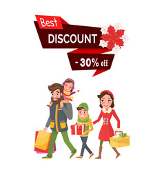 Best discount 30 percent off price shopping people vector