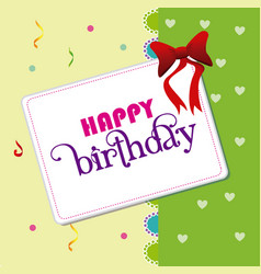 Birthday design over green background vector