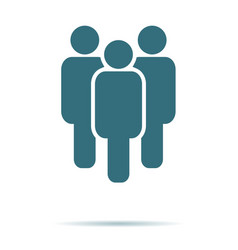 blue people icon isolated on background modern fl vector image