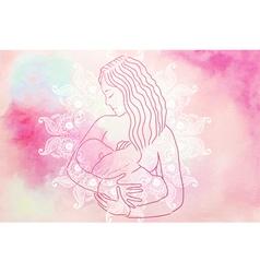 breastfeeding - vector image