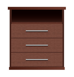 brown drawers mockup realistic style vector image