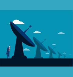 Businessman and radar technology concept business vector