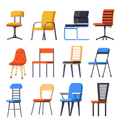 Chairs or armchairs seats or interior design vector