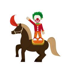 Circus clown icon vector