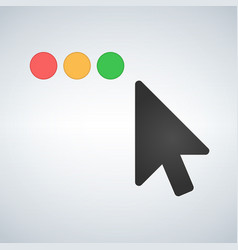 clean os or web multicolor buttons with mouse vector image