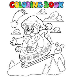 Coloring book christmas topic 6 vector
