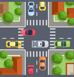 crossroad top view vector image