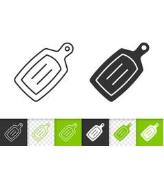 Cutting board simple black line icon vector