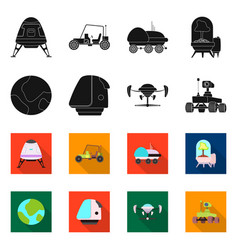 Design of mars and space sign set of mars vector