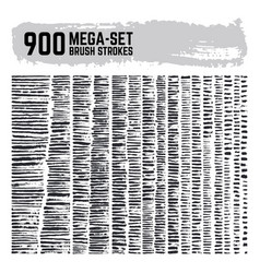 dirty inked brushstroke mega super set 900 vector image
