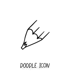 Doodle Pencil Icon Pencil Stub vector