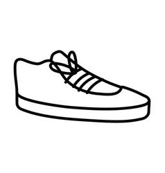 elegant leather work shoe isolated vector image